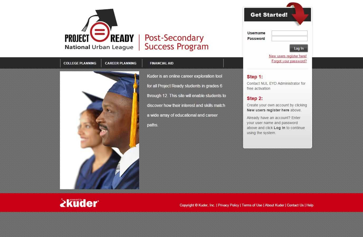 NUL Project Ready Post Secondary Success Program Home Page